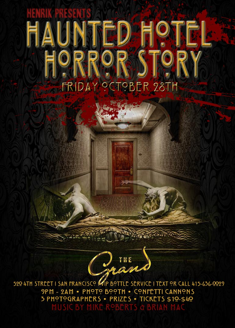 Henrik Presents - Events | The Haunted Hotel Halloween Party - The ...